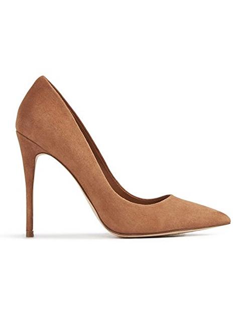 Aldo Sivri Burun Stiletto Ayakkabı Kahve